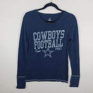 NFL Dallas cowboys blue long sleeve thermal shirt
